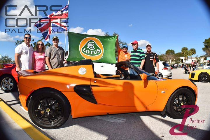 Lotus Group at Palm Beach Cars and Coffee 1-6-18