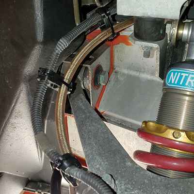 Clamps installed on SS Brake Line